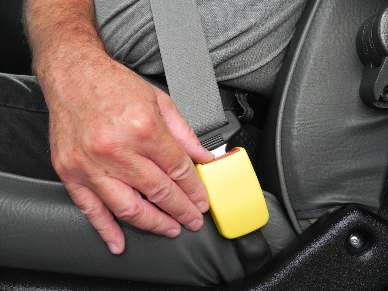 Access Vehicles Australia specialise in Handicap Vans, Disability Buses, Wheelchair Access Vehicle Conversions | STAY-PUT Seat Belt Buckle System - ../../dc/products/STAY-PUT_1_1.jpg